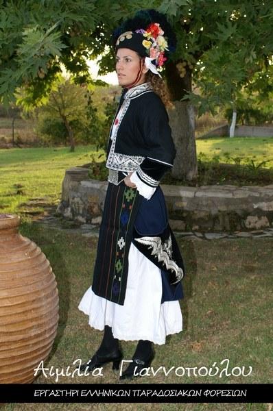 Γυναικεία Παραδοσιακή Φορεσιά (Αλεξάνδρειας) Γιδάς Ημαθίας