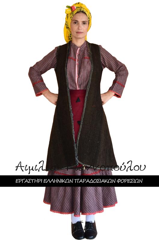 Γυναικεία Παραδοσιακή Φορεσιά Χωρική Πελοποννήσου