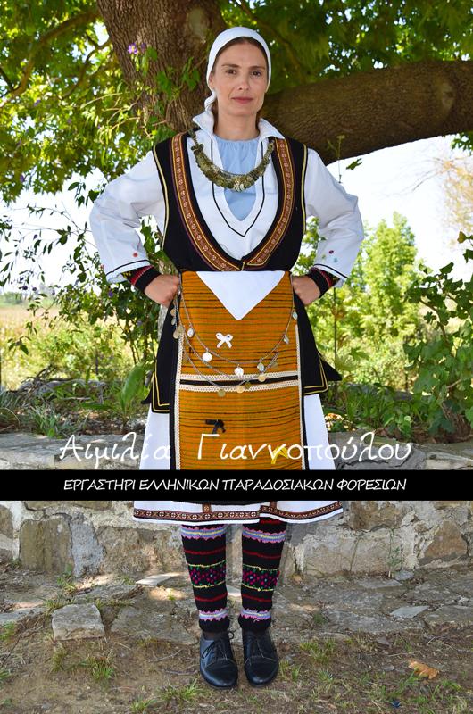 Ελληνικές Παραδοσιακές Φορεσιές Μακεδονίας | Γυναικεία Παραδοσιακή Φορεσιά Φλώρινας