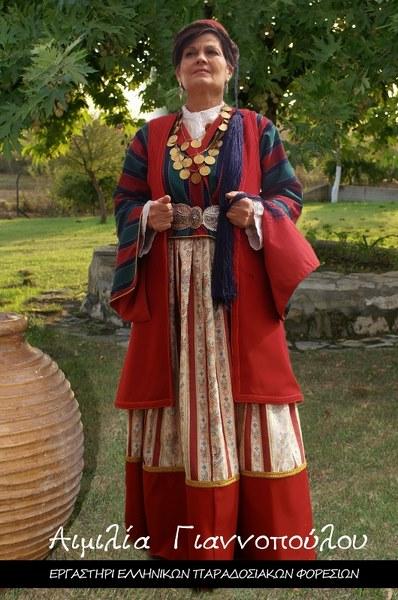 Γυναικεία Παραδοσιακή Φορεσιά Λεωνιδίου Τσακωνιά