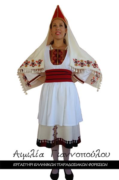 Γυναικεία Παραδοσιακή Φορεσιά Τήλου