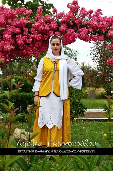 Γυναικεία Παραδοσιακή Φορεσιά Σαντορίνης