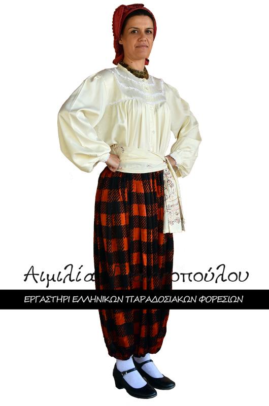 Γυναικεία Παραδοσιακή Φορεσιά Αγιάσου Λέσβου